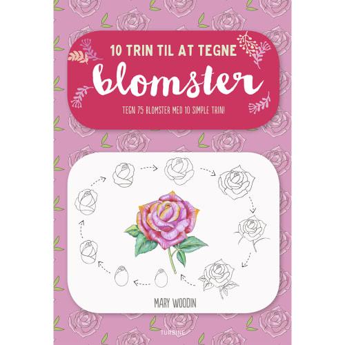 10 trin til at tegne blomster - Hæftet