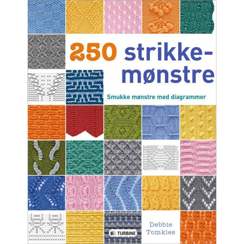 250 strikkemønstre - Smukke mønstre med diagrammer - Indbundet