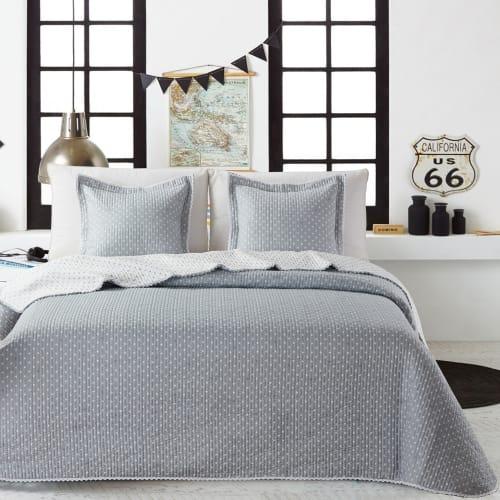 Billede af Atenas sengetæppe med pyntepudebetræk - Stella - Grå