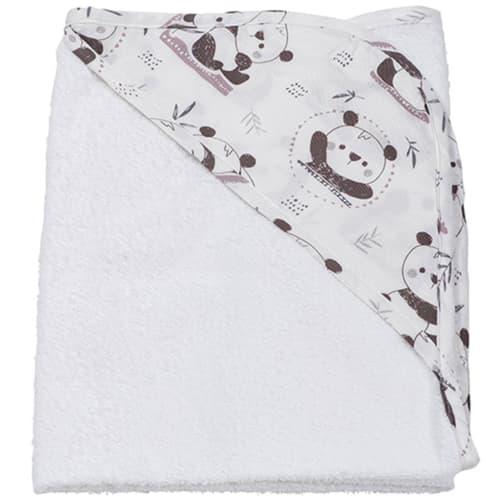 BabyTrold babyhåndklæde – Panda – Hvid