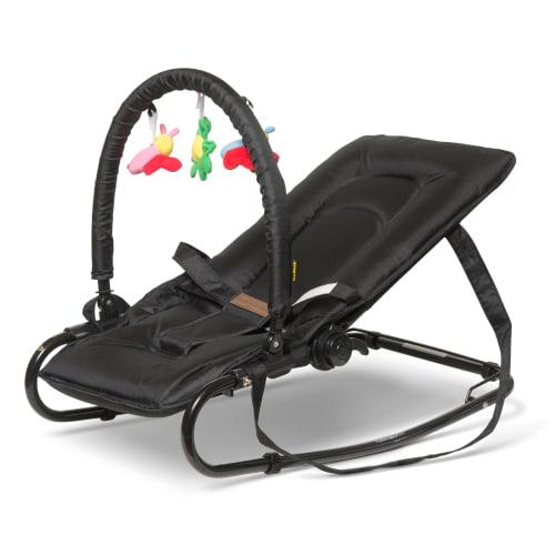 BabyTrold skråstol med legetøj - Sort