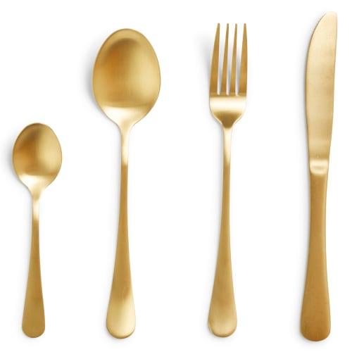 Bestiksæt Mat Guld