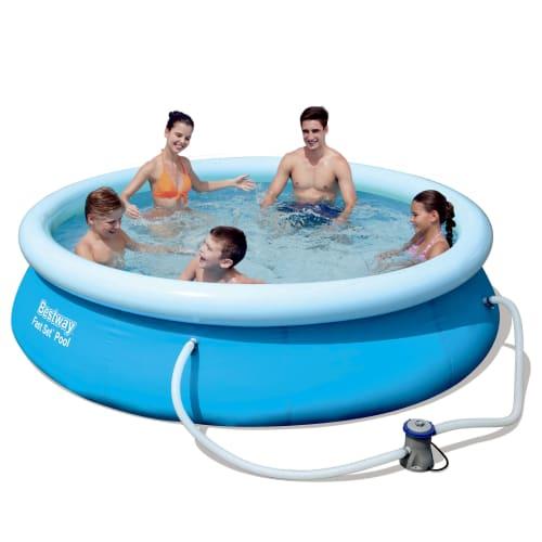 Køb Bestway badebassin – Fast Set Pool – 5.377 liter