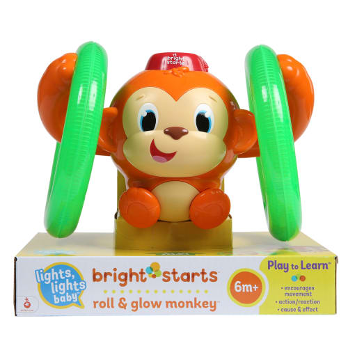 Bright Starts rullende og lysende abe - Roll & Glow Monkey