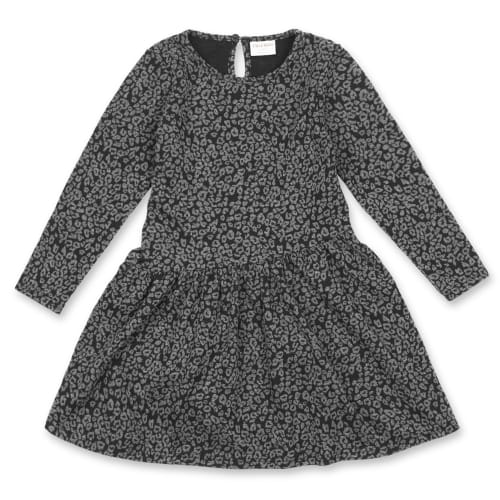 Friends kjole - Grå med leopardprint