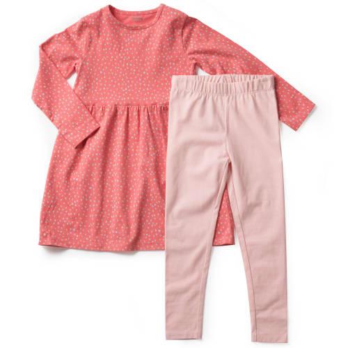 Friends kjole og leggings - Mønstret/lyserød