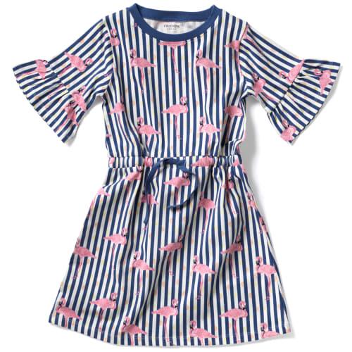 Friends kjole - Stribet med print