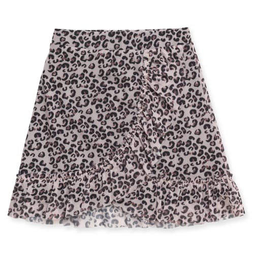 Friends nederdel - Grå leopardprint