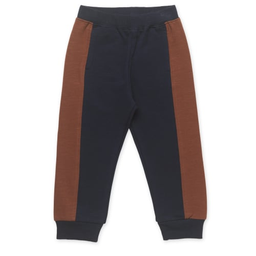 Friends sweatpants - Mørkeblå med brun stribe