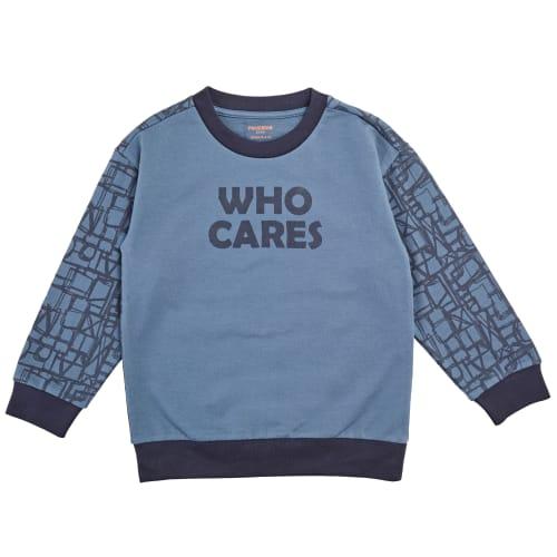 Friends sweatshirt - Blå med print