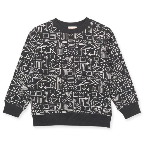Friends sweatshirt - Sort med print