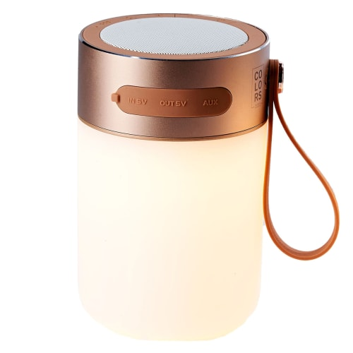 Halo Design LED Sound Jar Gold