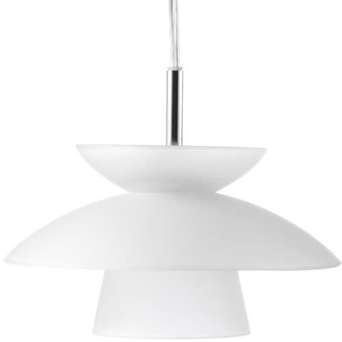 Halo Design pendel - Safir - Hvid/krom