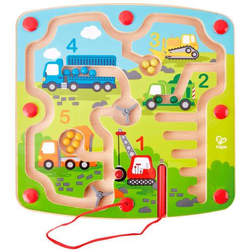 Hape magnetisk labyrint - Byggepladsbiler