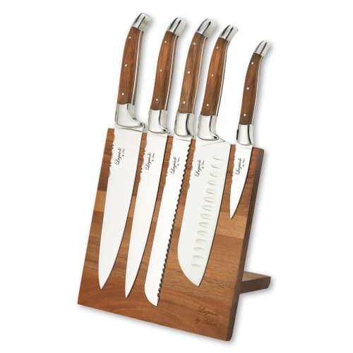 Billede af Laguiole by Hâws knivsæt med knivblok