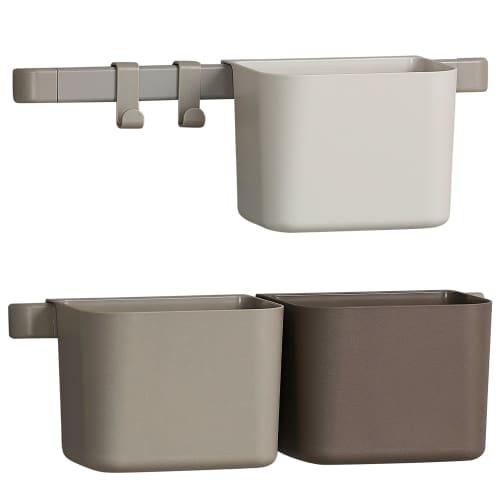 Billede af Leander beholdere inkl. 2 korte skinner - Cappuccino