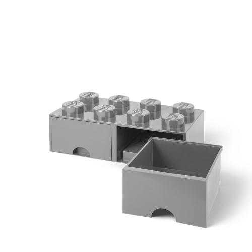 LEGO Med 2 Skuffer Grå