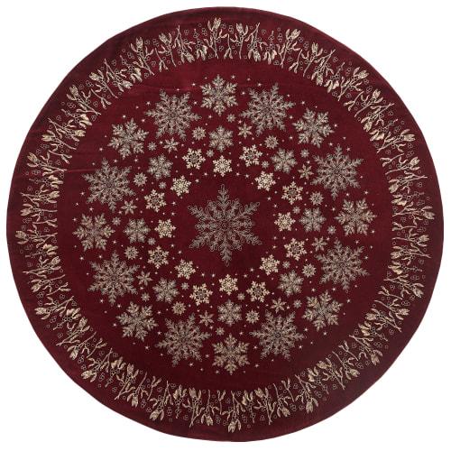 Billede af Lene Bjerre juletræstæppe - Mistle - Rød