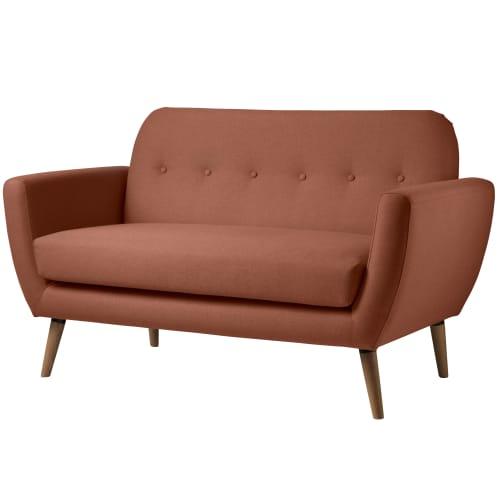 Living&more 2 pers. sofa - Alma - Teglrød