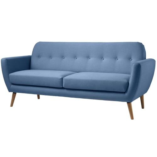 Living&more 3 pers. sofa - Alma - Blå