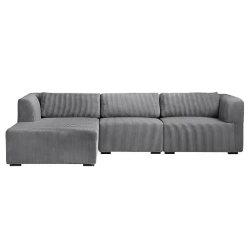 Living&more 3 pers. sofa med chaiselong - Karl - Grå