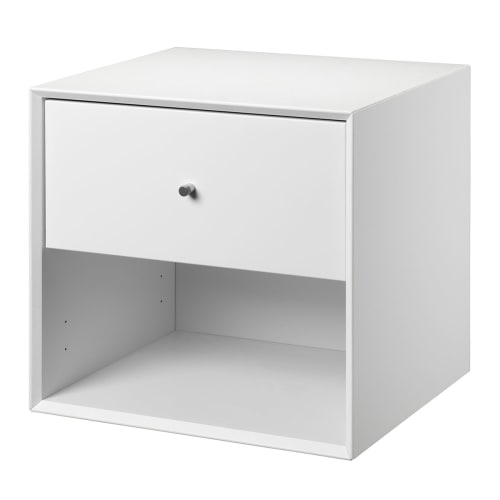 Living&more reol med skuffe - The Box - 37 x 39,4 x 34 cm - Hvid
