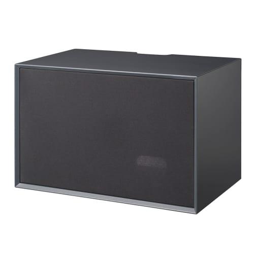 Living&more Skab Med Stoflåge - The Box - 37 X 58 X 34 Cm - Antracit