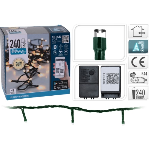 Lyskæde Med 240 LED-lys