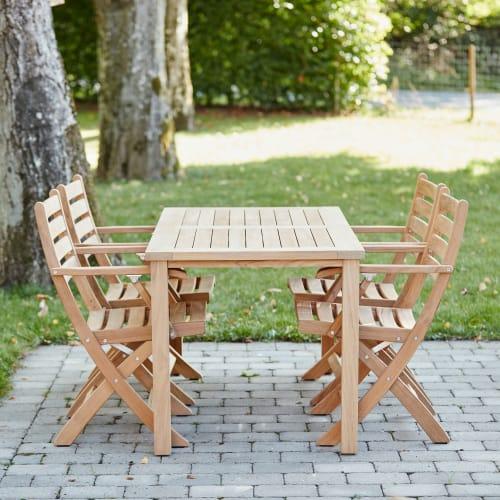 Mandalay Cambridge havemøbelsæt med 4 Dian stole - Teak