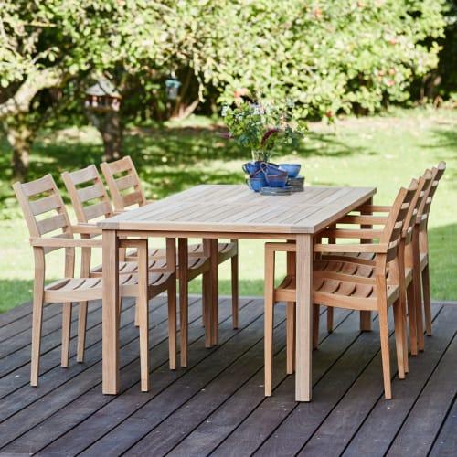 Mandalay Cambridge havemøbelsæt med 6 York stole - Teak