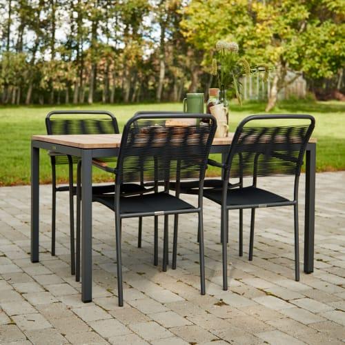 Mandalay Toscana havemøbelsæt med 4 Verona stole - Teak/antracit