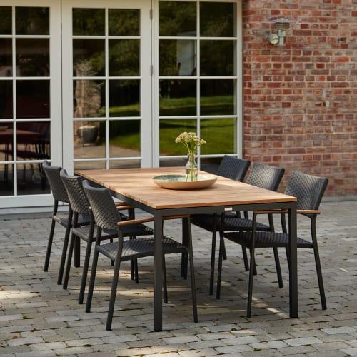Mandalay Toscana havemøbelsæt med 6 Siena stole - Teak/antracit