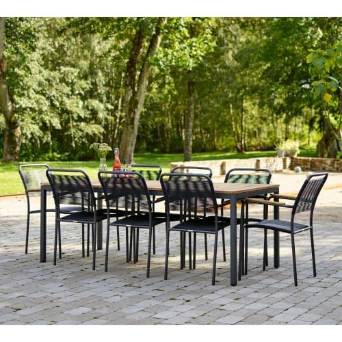 Mandalay Toscana havemøbelsæt med 8 Verona stole - Teak/antracit