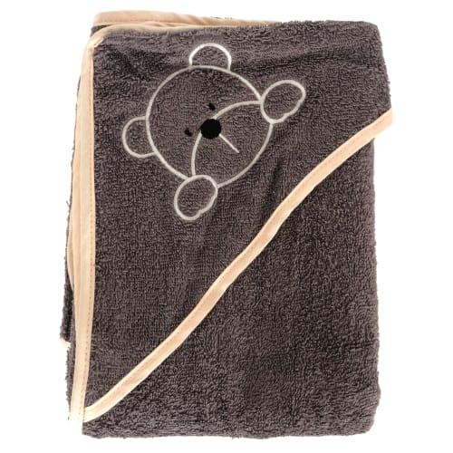 Manostiles babyhåndklæde – Grå med nude kant