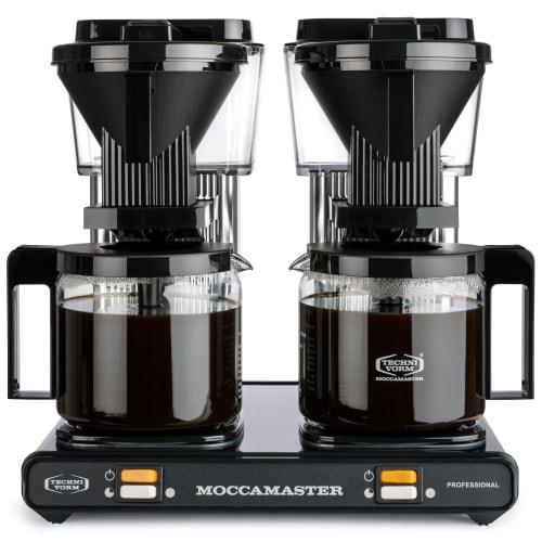 Moccamaster kaffemaskine - Professional Double - Black Silver