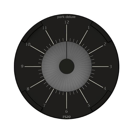 Park Deluxe elektronisk p-skive – Sort