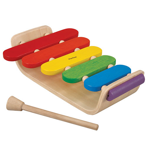 Plantoys xylofon - Natur/regnbue