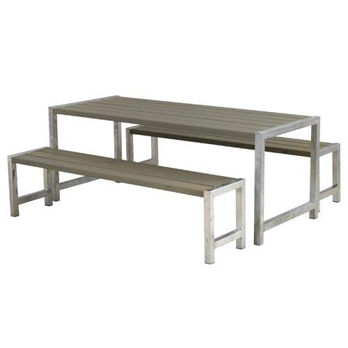 Plus bord- og bænkesæt - Alma - Gråbrun