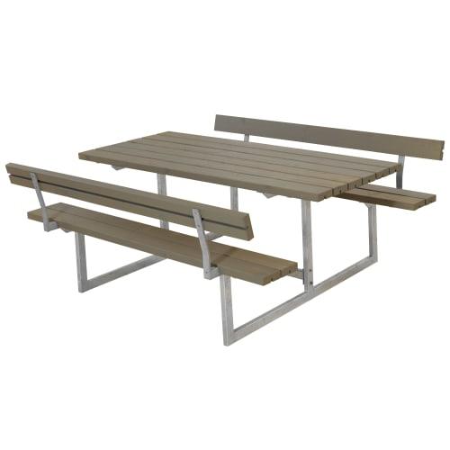 Plus bord- og bænkesæt - Basic - Gråbrun