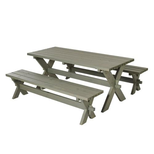 Plus bord- og bænkesæt - Nellie - Gråbrun