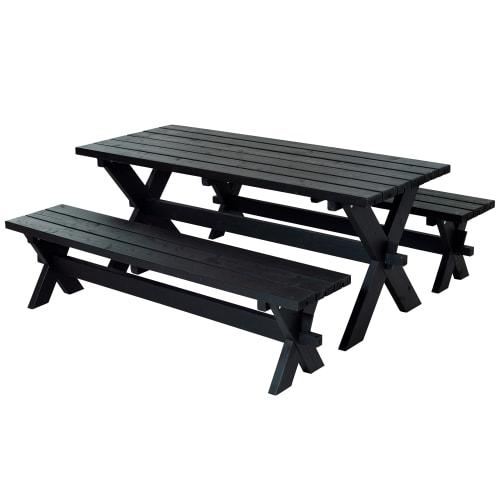 Plus bord- og bænkesæt - Nellie - Sort