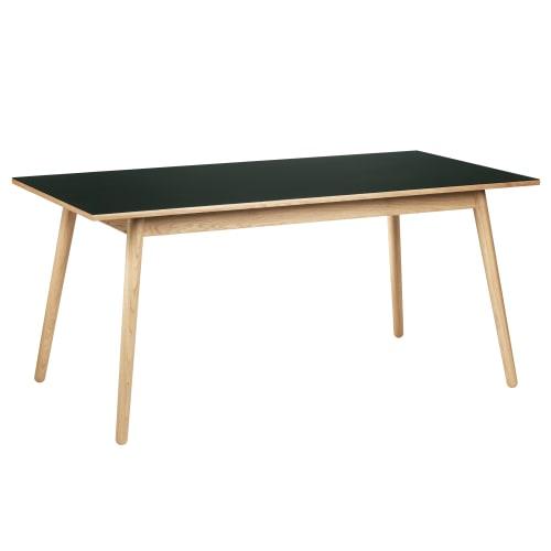 Poul M. Volther 6 pers. spisebord - C35B - Eg/mørkegrøn linoleum