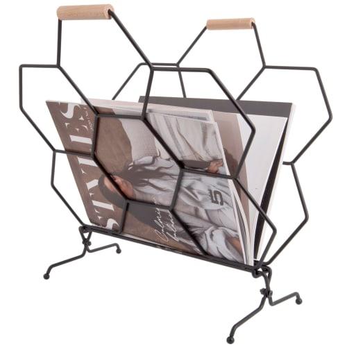 Present Time magasinholder - Honeycomb - Sort