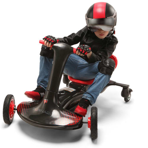 Rollplay el-gokart - Turnado Drift Racer - Sort/rød