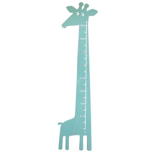 Roommate højdemåler - Giraf - Pastelblå