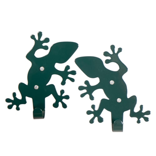 Roommate knage - Lizard Hooks - Mørkegrøn - 2 stk.