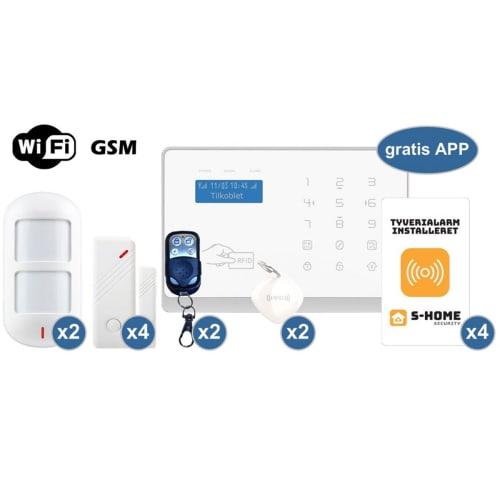 S-Home Wifi Deluxe Alarmpakke