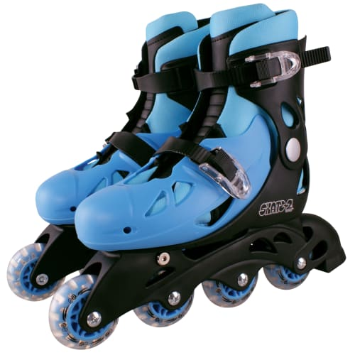Skate 2 inliners - Blå - Str. 32-35