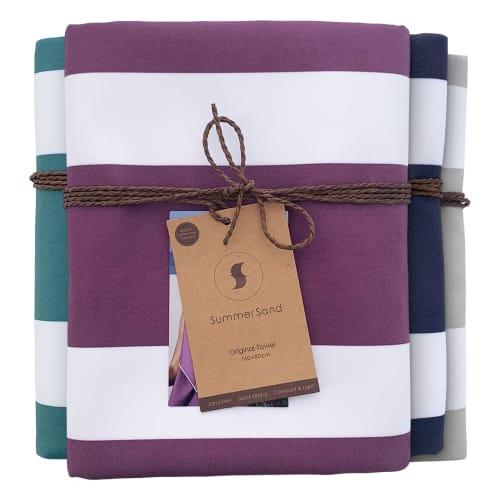 Billede af SummerSand strandhåndklæde - Grape purple