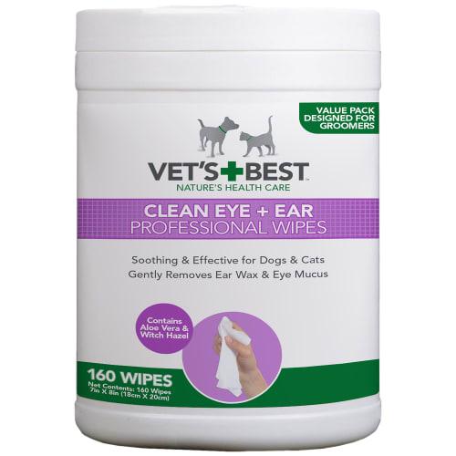 Vet's Best renseservietter til øjne og ører - Clean Eye + Ear